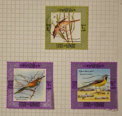 Stamps   Sate of Kuwait  Birds