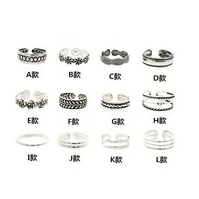 Wholesale 12 Lot Silver Flower Toe Finger Ring Adjustable Best Deal Jewelry Gift