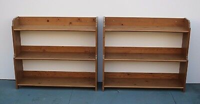 Pair of Pine Bookcases/Shelving Units