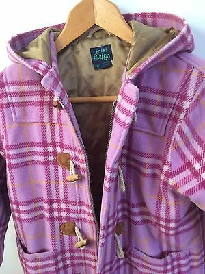 Mini Boden Girl's Pink Duffle Coat, age 7-8