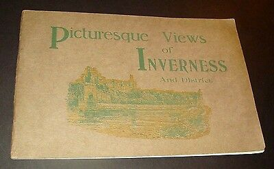 1915-20 PHOTO BOOKLET - TOUR of SCOTLAND'S HIGHLANDS, 92 Captioned Scenes, A+!