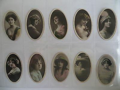 Phillips 'Beauties Oval'. 13 cards from set of 30.