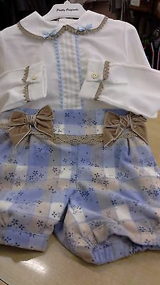 girls spanish shirt & blouse set by pretty originals bnwt coot/poly mix 5 & 6 hr