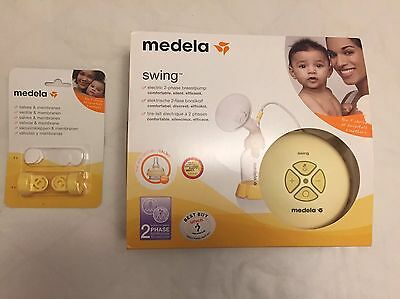 Medela Swing Breast Pump With Extra Valves & Membranes