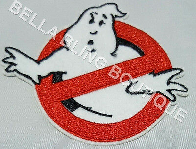 1 Embroidery Applique Boys Girls Ghostbusters Iron On Sew On Patch Clothes