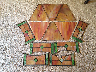 Antique Stained Glass Pieces Panels 12 Ravenna Glass 9.5 lbs Antique Glass Shade