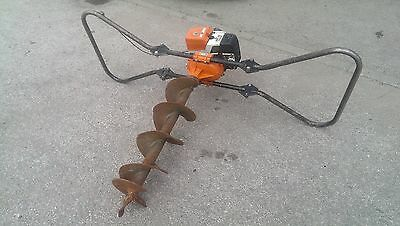 "Stihl Bt360 Post Hole Borer, 8"" Auger, Farmer,landscaper,fencing,post Hole Auger"
