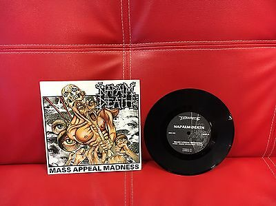 """Napalm Death """"Mass Appeal Madness 7"""" Vinyl"""""""