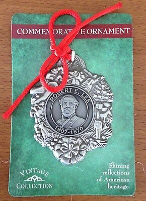Robert E Lee 1807-1870 Civil War Christmas Commemorative Ornament New
