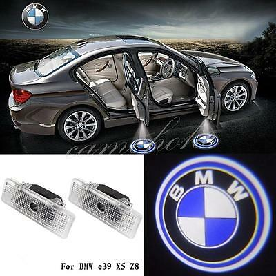 2x LED Door Ghost Shadow Courtesy Logo Laser Projector Lights For BMW E53 E39 X5