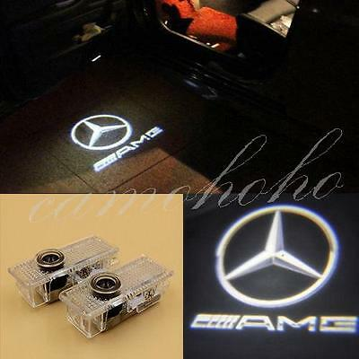 2pcs Door Step Laser Courtesy Projector Ghost Shadow Light For Benz CLA CLS AMG