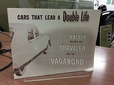 1940 Kaiser Presents the Traveler & Vagabond Car Brochure - Vintage