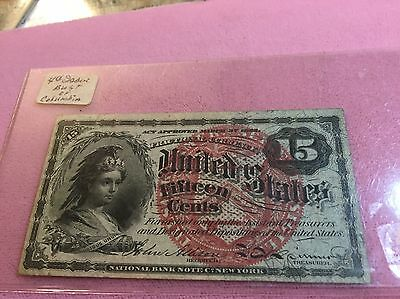15 Cent Fraction Currency Note 1863
