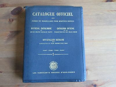 vintage Official Catalogue of Swiss Watch Repair Parts. Part 1. 1949
