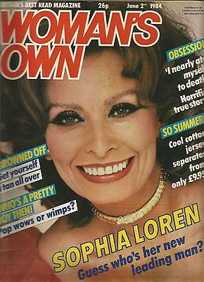 Woman's Own June 2nd 1984 Sophia Loren - Guess who's her new leading man?