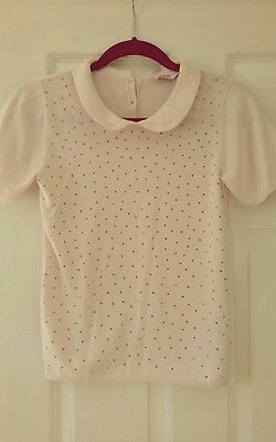 TED BAKER GIRLS SHORT SLEEVED JUMPER with diamonte stud design. AGE 12-13 YEARS