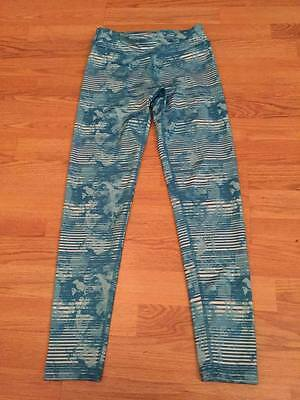Womens XS or Girls 12 years Blue Pattern Gym Leggings from TK MAXX