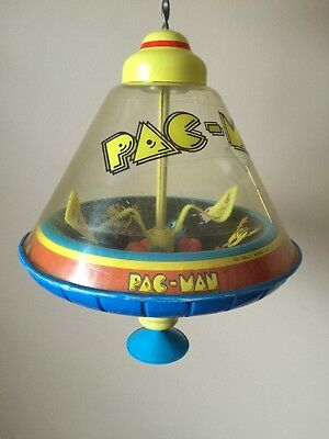 """RARE Vintage 1982 Ohio Art Bally Midway 12"""" Pac-Man Spinning Top Toy"""
