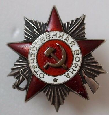 USSR Soviet Russian USSR Order Medal of the Patriotic War 2nd - LOW  NUMBERED