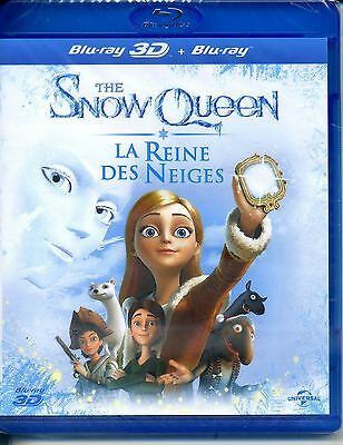 THE SNOW QUEEN  la reine des neiges   BLU RAY 3D + BLU RAY  neuf  ref03111635