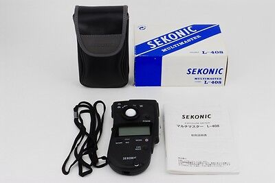 【Mint】Sekonic multimaster L-408 light meter w/Box,Case,manual,Strap from JAPAN