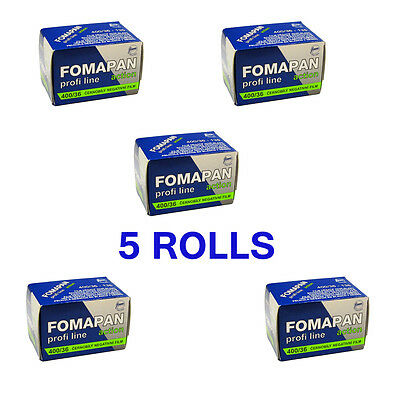 Fomapan 400 Action 35mm Black & White Film FP4011 135 - 36 exposure 5 Rolls