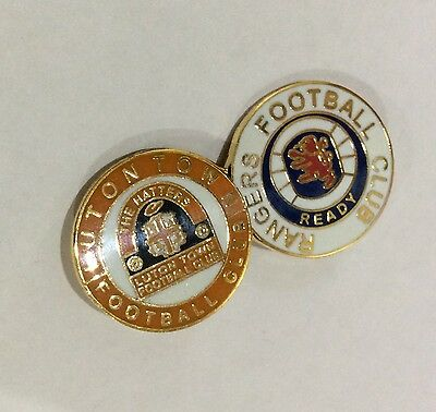 LUTON TOWN Badge Football Club FC Enamel GLASGOW RANGERS Supporters Pin. 1 of 4