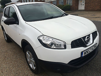 2012 Nissan Qashqai Visia White Low Mileage Long Mot , Bluetooth Bargain