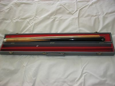 Vintage BCE Doug Mountjoy 2 Piece Snooker / Pool Cue with solid case