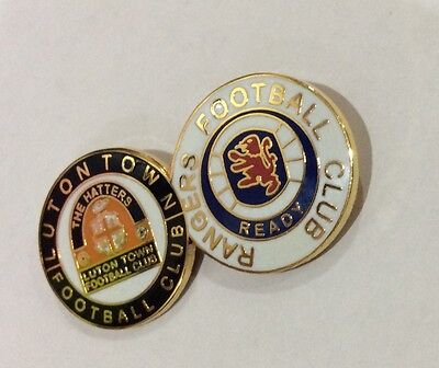 LUTON TOWN Badge Football Club FC Enamel GLASGOW RANGERS Supporters Pin. 4 of 4