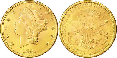 [#415650] United States, Liberty Head, $20, Double Eagle, 1884, U.S. Mint,...