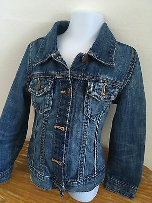 Gap Kids Age 4 - 5 Years Blue Denim Jacket Button Front Long Sleeves