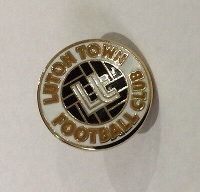 LUTON TOWN Badge Football Club FC Small (15 mms) Enamel Supporters Pin. 3 of 4