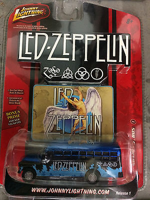 Led Zeppelin 56 Chevy School Bus Die Cast Bus Johnny Lightning Swan Song NIB