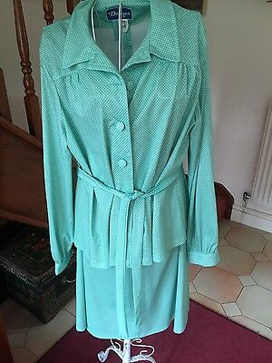 Vintage Green  skirt suit by Deanes