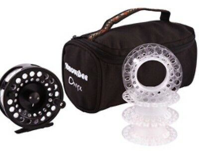 Snowbee Onyx Fly Reel And Three Spare Spools 6-8#