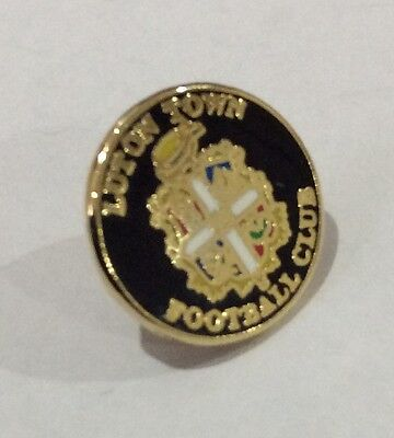 LUTON TOWN Badge Football Club FC Enamel VERY SMALL Supporters Pin PRESENT GIFT