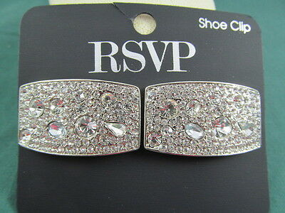 RSVP Rhinestone Shoe Clips NEW on Card