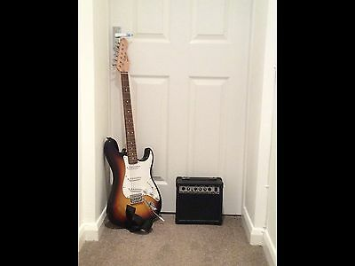Deacon Electric Guitar, Amplifier And Carry case