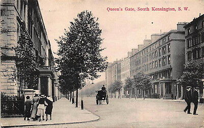 Queens Gate South Kensington, London England Postcard by Charles Martin No. 1794