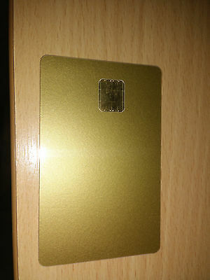 Blank Gold Wafer Card PIC16F84 and 24LC16