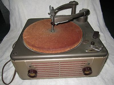 Vintage Webster Chicago Model 100-601,  33-45-78Rpm Phonograph Record Player