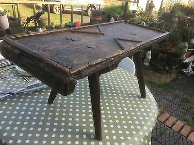 Rare 18th Century Georgian  Ships Naval Gaming Table Mixed Woods Oak, Elm & Pine