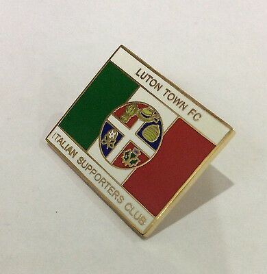 LUTON TOWN Badge Football Club FC Enamel ITALIAN ITALY Supporters Club Pin. 3/4