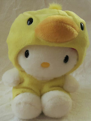 14cm Sanrio Hello Kitty Plush In Removable Duck Suit Costume 1998