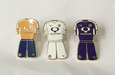 LUTON TOWN Football Club FC Enamel Badge FULL SET of 3 Supporters Shirt Kit Pin