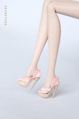 SK166 Pink Silk High Heels Shoes for Fashion Royalty,DG,Barbie