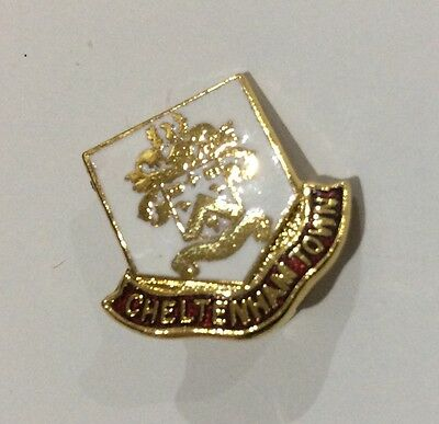 OLD CHELTENHAM TOWN Football Club Badge FC Rare Enamel Supporters Pin. Colour 2