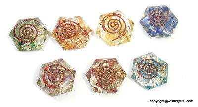 7 Chakra Star Of David Set Sacred Geometry Orgone Healing Stones
