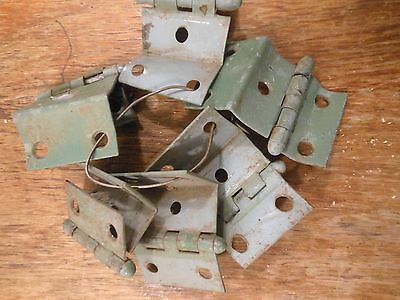 Vintage Hinges On A Wire Rust Salvage Industrial Hardware DIY Supplies Materials